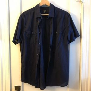MENS LIGHT COTTON BUTTON UP